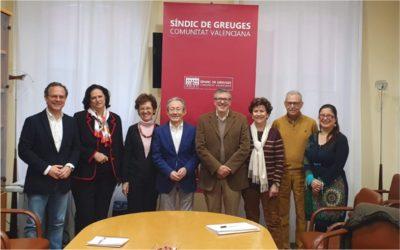 La Asociación Gerontológica del Mediterráneo con el Síndic de Greuges